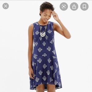 Madewell Skyscape Dress in Flower Stamp Sz Small